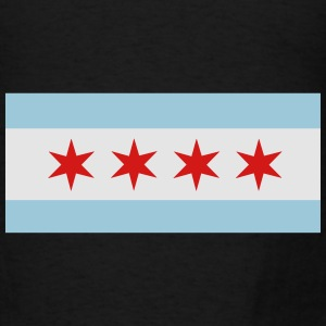 Flag of Chicago Hoodies - Men's T-Shirt