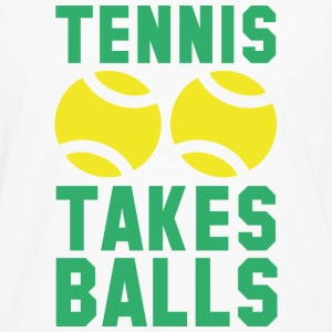 Tennis Takes Balls - Men's Premium Long Sleeve T-Shirt