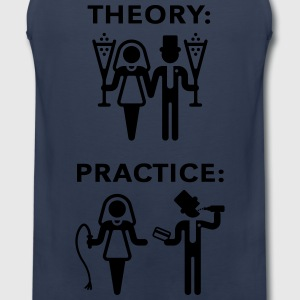 Theory & Practice / Bride & Groom (Wedding) T-Shirts - Men's Premium Tank