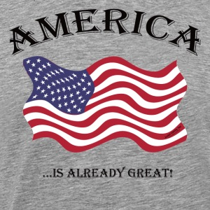 AMERICA...is ALREADY Great! Long Sleeve Shirts - Men's Premium T-Shirt