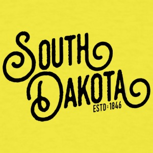 South Dakota Script - Men's T-Shirt