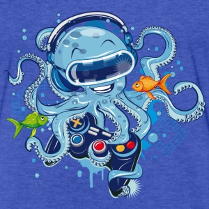 Octopus with gamepad and VR goggles Sweatshirts - Fitted Cotton/Poly T-Shirt by Next Level