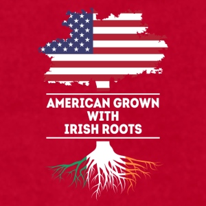 American grown with Irish Roots Irish T Shirt Mugs & Drinkware - Men's T-Shirt by American Apparel