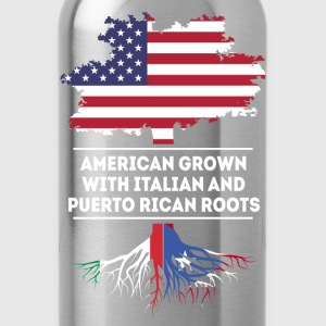 American Italian and Puerto Rican roots T Shirt T-Shirts - Water Bottle