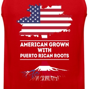 American grown with Puerto Rican roots T Shirt Women's T-Shirts - Men's Premium Tank