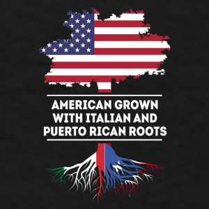 American Italian and Puerto Rican roots T Shirt Mugs & Drinkware - Men's T-Shirt