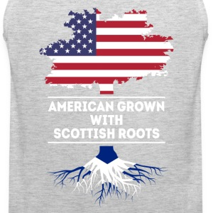 American grown with Scottish roots T Shirt Women's T-Shirts - Men's Premium Tank