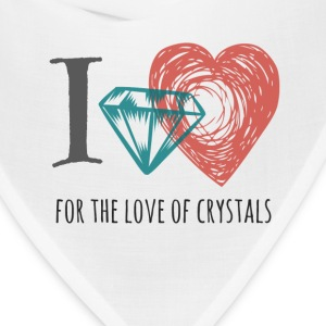 I love Crystals Gemstones - Bandana