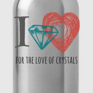 I love Crystals Gemstones - Water Bottle
