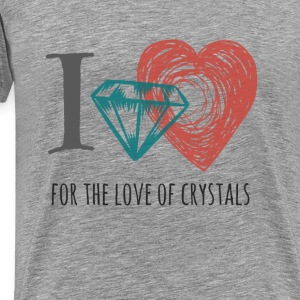 I love Crystals Gemstones - Men's Premium T-Shirt
