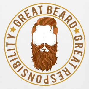 Great beard comes with great responsibility - Men's Premium Tank