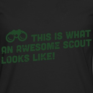 This is what an awesome scout looks like T-Shirts - Men's Premium Long Sleeve T-Shirt