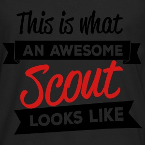 This is what an awesome scout looks like Kids' Shirts - Men's Premium Long Sleeve T-Shirt