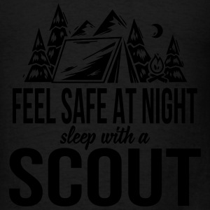 Feel safe at night, sleep with a scout Hoodies - Men's T-Shirt