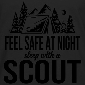 Feel safe at night, sleep with a scout Baby & Toddler Shirts - Men's Premium Long Sleeve T-Shirt