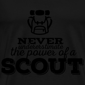 Never underestimate the power of a scout Hoodies - Men's Premium T-Shirt