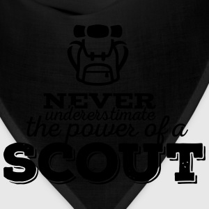 Never underestimate the power of a scout Women's T-Shirts - Bandana