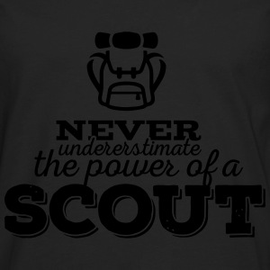 Never underestimate the power of a scout Women's T-Shirts - Men's Premium Long Sleeve T-Shirt