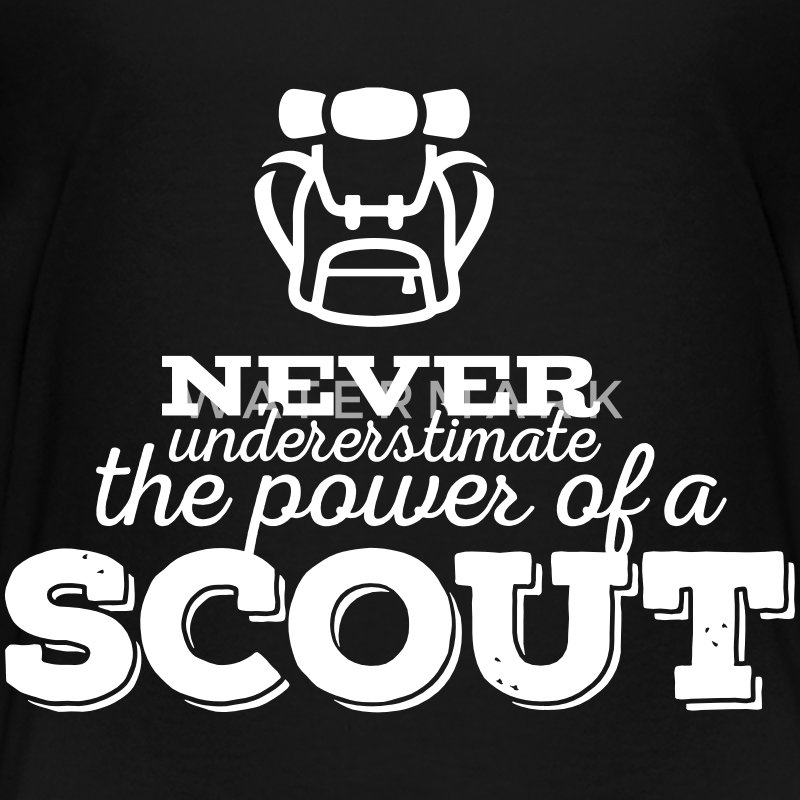 Never underestimate the power of a scout Kids' Shirts - Kids' Premium T-Shirt