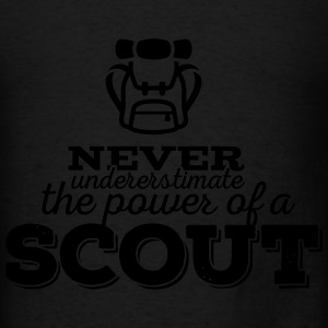 Never underestimate the power of a scout Hoodies - Men's T-Shirt