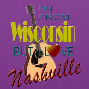 Love Nashville from Wisconsin Women's T-Shirts - Tote Bag