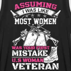 WOMAN VETERAN, veteran mom, veteran marine wife - Men's Premium Tank