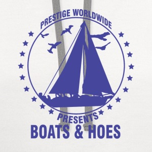 boating, boat, boat captain, boats and hoes, boats - Contrast Hoodie