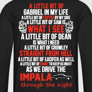 impala and gun Devil Automobile - Men's Premium Long Sleeve T-Shirt
