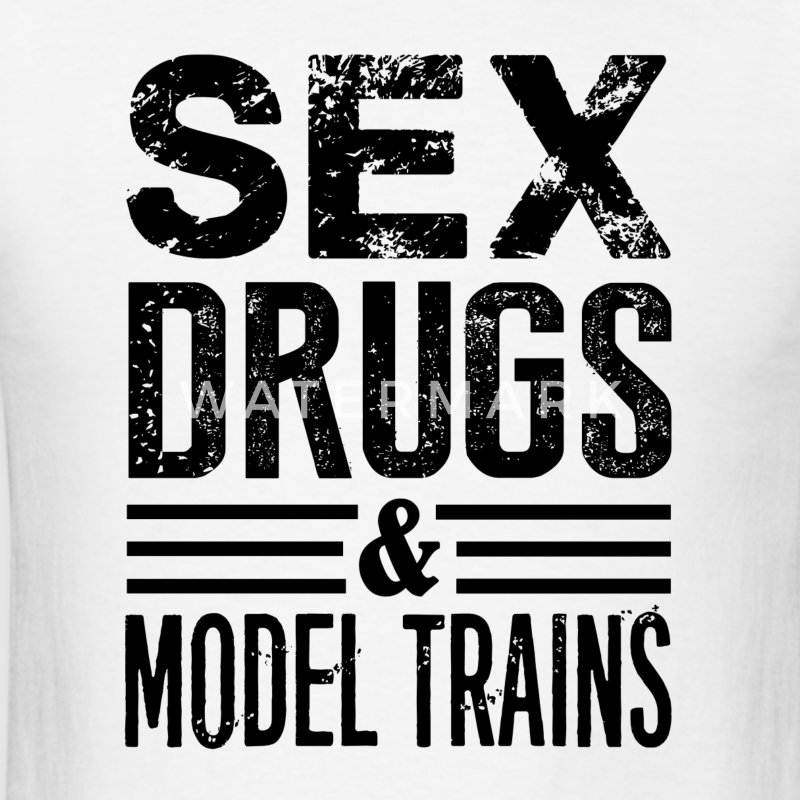 Funny Model Trains - Men's T-Shirt