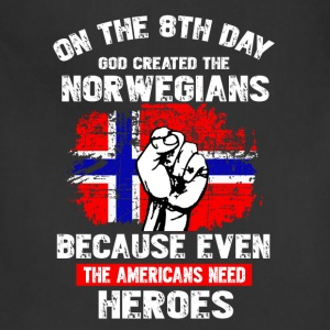 GOD CREATED THE NORWEGIAN - Adjustable Apron