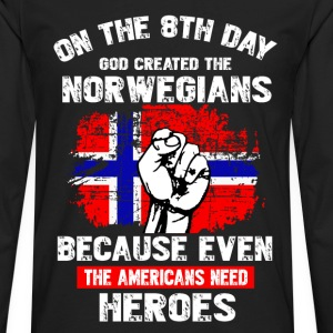 GOD CREATED THE NORWEGIAN - Men's Premium Long Sleeve T-Shirt