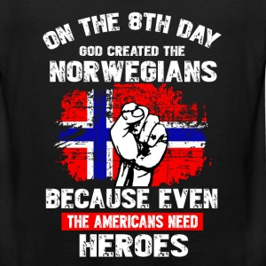 GOD CREATED THE NORWEGIAN - Men's Premium Tank