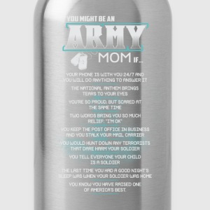 ARMY MOM funny army mom, army mom in law - Water Bottle