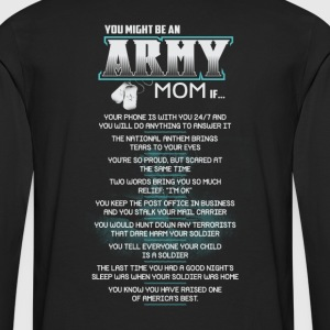 ARMY MOM funny army mom, army mom in law - Men's Premium Long Sleeve T-Shirt