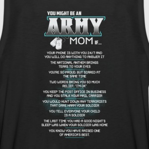 ARMY MOM funny army mom, army mom in law - Men's Premium Tank