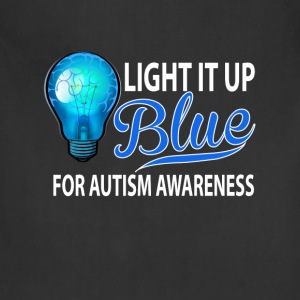 Light It Up Blue For Autism Awareness Women's T-Shirts - Adjustable Apron