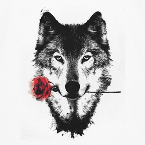 Wolf Rose Baby Bodysuits - Men's Premium Long Sleeve T-Shirt