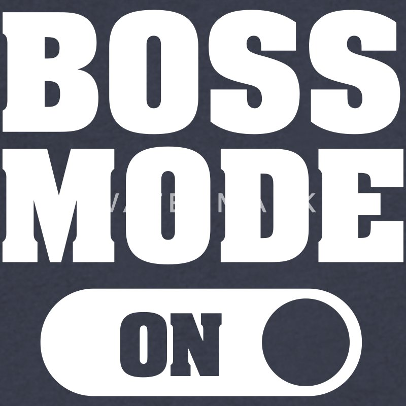 Boss Mode (On) T-Shirts - Men's V-Neck T-Shirt by Canvas