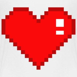Eight Bit Heart - Toddler Premium T-Shirt