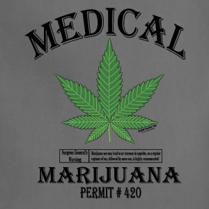 MEDICAL MARIJUANA PERMIT #420. T-Shirts - Adjustable Apron