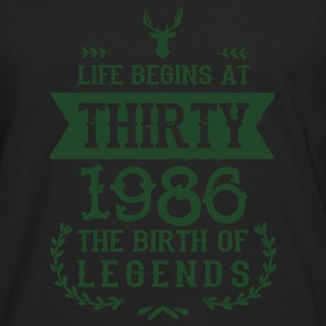 30th Birthday - 1986 - Vintage Women's T-Shirts - Men's Premium Long Sleeve T-Shirt