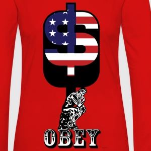 TShort Obey Dollar V1 - Women's Premium Long Sleeve T-Shirt
