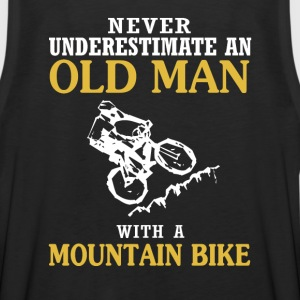 OLD MAN WITH A MOUNTAIN BIKE - Men's Premium Tank