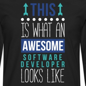 Awesome Software Developer Professions T Shirt T-Shirts - Men's Premium Long Sleeve T-Shirt