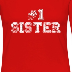 #1 sister Women's T-Shirts - Women's Premium Long Sleeve T-Shirt