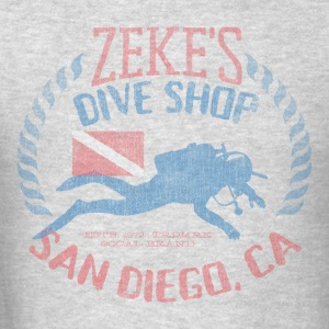 Zeke's Dive Shop, San Diego Hoodie - Men's T-Shirt