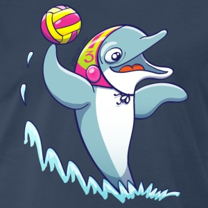 Dolphin Playing Water Polo Sportswear - Men's Premium T-Shirt
