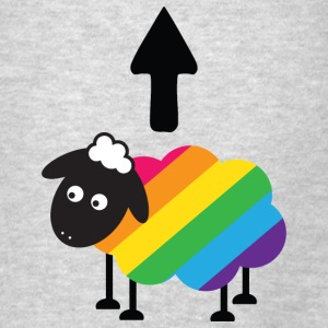 Rainbow Sheep Funny LGBT Hoodies - Men's T-Shirt