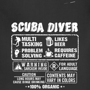 SCUBA DRIVER diving and funny - Adjustable Apron