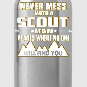 NEVER MESS WITH SCOUT - Water Bottle